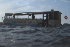 Marineland Tours Amphibios Bus in George Town, Grand Cayman