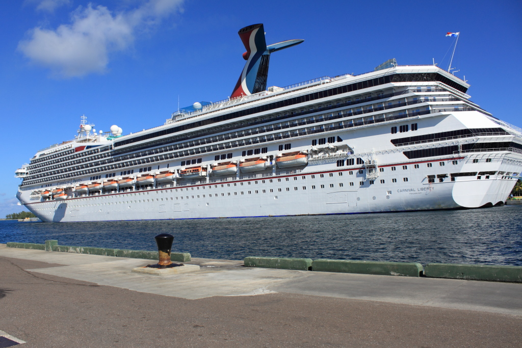 Carnival Liberty docked at Nassau, Bahamas